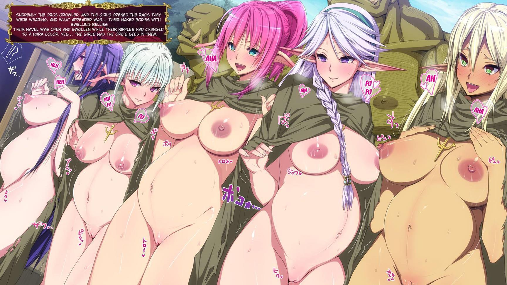 Hentai dark elf pregnant erotic video